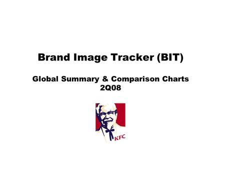 Brand Image Tracker (BIT) Global Summary & Comparison Charts 2Q08.