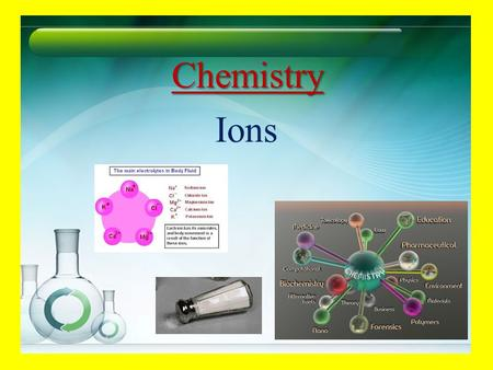 Chemistry Ions Red and Green are opposites Assume red and green cancel each other net color = neutral.
