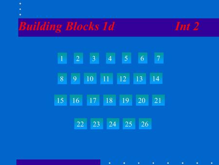 Building Blocks 1d Int 2 1234 567 89 10 111213 14 15 22 23242526 161718192021.