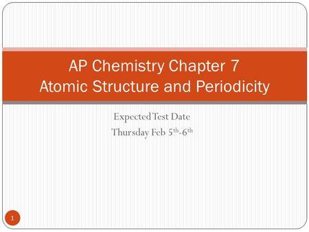 Dating chemistry test