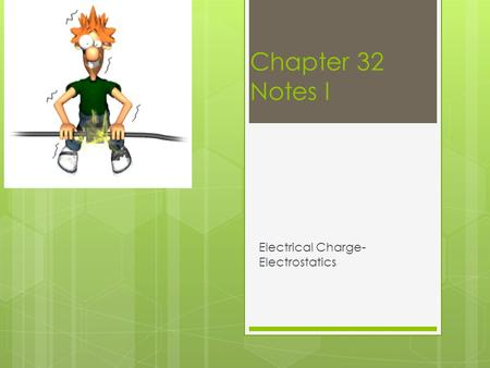 Electrical Charge- Electrostatics