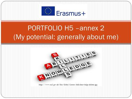 PORTFOLIO H5 –annex 2 (My potential: generally about me) https://www.mi5.gov.uk/files/Global/Careers/skills-knowledge-abilities.jpg.