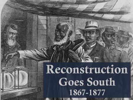Reconstruction Goes South
