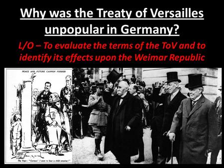 why was the weimar republic unpopular The weimar republic was formed in six weeks, after kaiser wilhelm  wanted to  end the war was mightily unpopular with the german citizens.