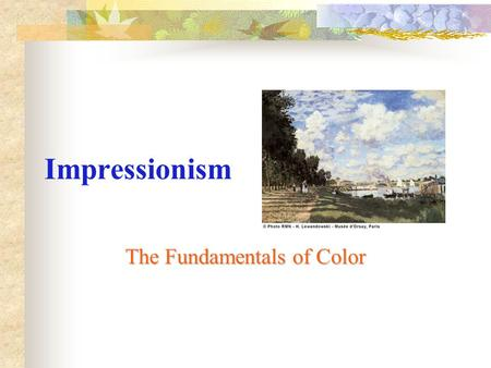 The Fundamentals of Color
