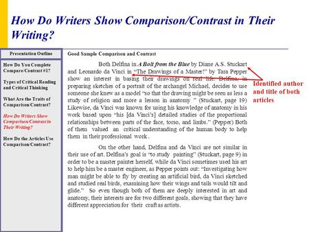 college compare and contrast essays