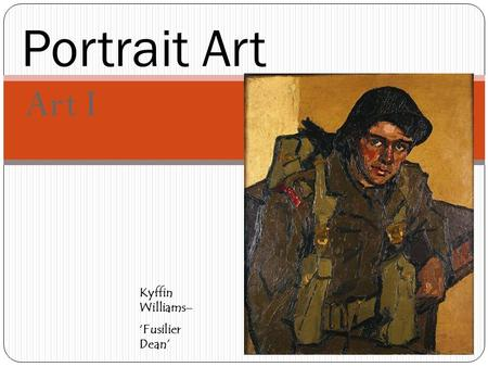 Art I Portrait Art Kyffin Williams– 'Fusilier Dean'