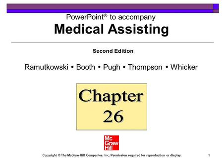 Medical Assisting Chapter 26
