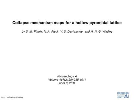 Collapse mechanism maps for a hollow pyramidal lattice
