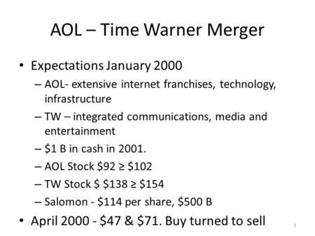 AOL, Time Warner To Merge