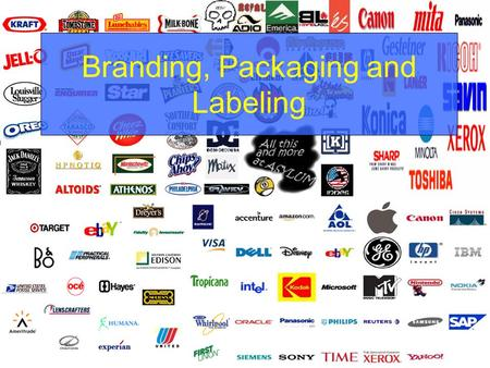 Branding, Packaging and Labeling. Topics Branding –Importance –Types –Strategies Packaging –Function –Issues Labeling.