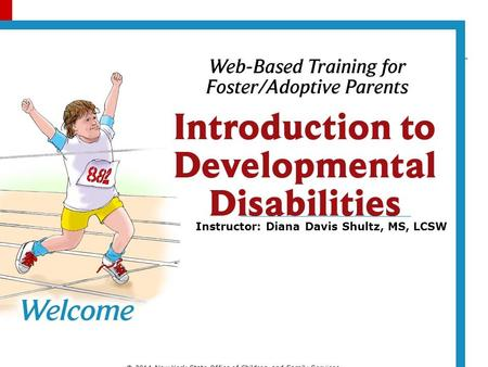 Instructor: Diana Davis Shultz, MS, LCSW © 2014 New York State Office of Children and Family Services.