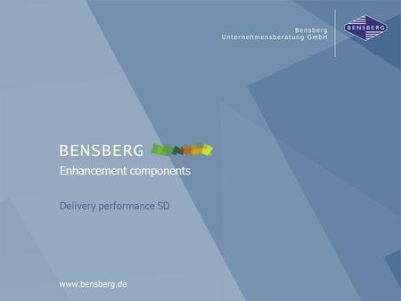 Bensberg GmbHDelivery performance SD Enhancement components Delivery performance SD.