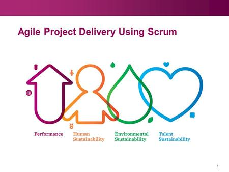 1 Agile Project Delivery Using Scrum. 2 Training Goals Understand Scrum at a high level Understand the basic principles and practices of Scrum Appreciate.
