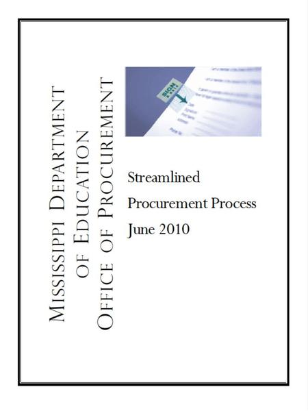 PROCUREMENT PROCESS FOR CONTRACTS Recognition of Need.