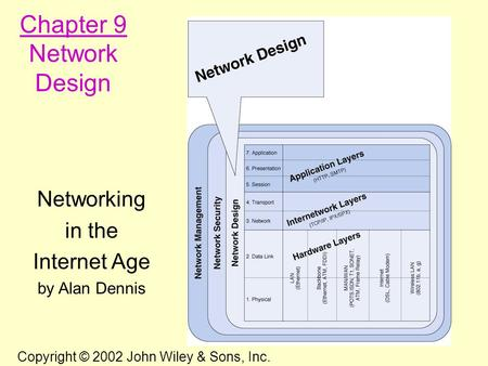 Chapter 9 Network Design Networking in the Internet Age by Alan Dennis
