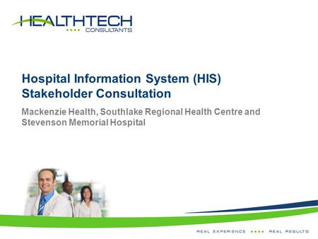 Hospital Information System (HIS) Stakeholder Consultation