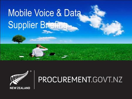 Mobile Voice & Data Supplier Briefing. Procurement Reform ICT Framework Telecommunication & Mobile Category Agency Consumption & Spend Today Background.