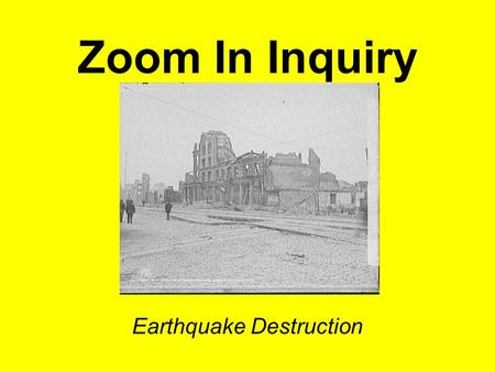Zoom In Inquiry Earthquake Destruction. Foot of Market Street, showing earthquake upheaval, San Francisco, Cal. digital file from intermediary roll film.