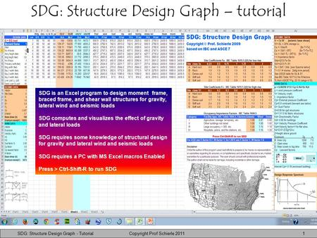 SDG: Structure Design Graph Copyright © G G Schierle, 2010 Press Esc to end,  for next,  for previous slide 1 SDG: Structure Design Graph – tutorial.