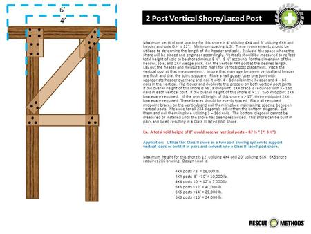 2 Post Vertical Shore/Laced Post