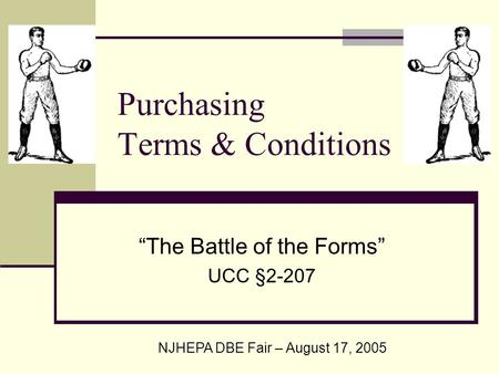 Purchasing Terms & Conditions