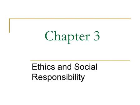 Williams Ethics and Social Responsibility