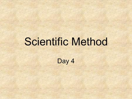 Scientific Method Day 4. Title: Criteria for a Conclusion (pages 9-10) (Put this into your table of contents!!) 10/01/07.