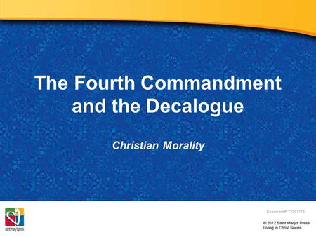 The Fourth Commandment and the Decalogue