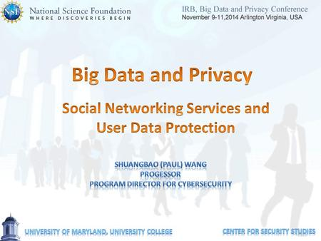 Social Networking Services and User Data Protection