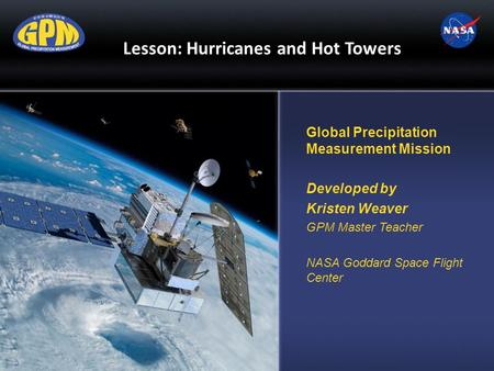 Lesson: Hurricanes and Hot Towers