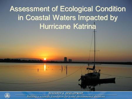 Assessment of Ecological Condition in Coastal Waters Impacted by Hurricane Katrina.