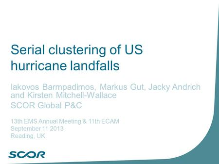 Serial clustering of US hurricane landfalls