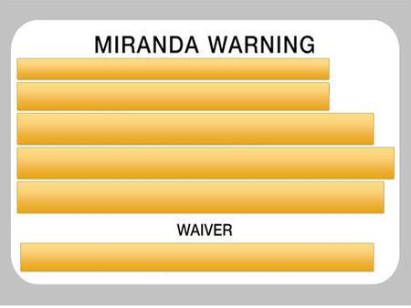 Miranda V Arizona Essay