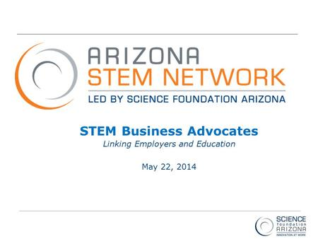 Intel ® Education Programs STEM Business Advocates Linking Employers and Education May 22, 2014.