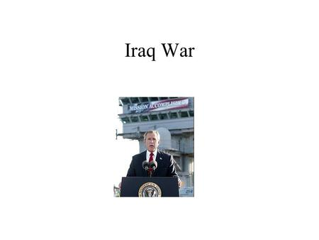 Iraq War Iraq basics One of the largest Arab nations in Middle East 2nd largest proven oil reserves in world Ethnic Kurds in North--15% Sunni Arabs,