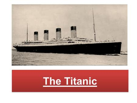 The Titanic.  The White Star Line was founded in 1850  In 1867 it was purchased by Thomas Ismay  Thomas's son Bruce became a partner in the firm and.