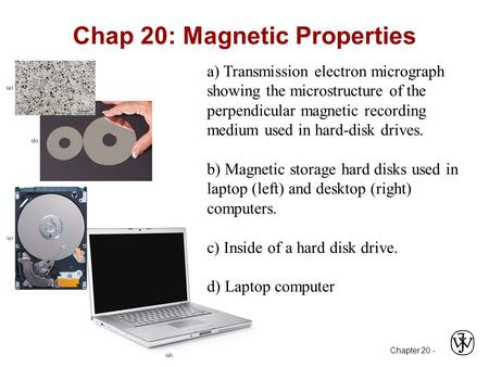 Chapter 20 - Chap 20: Magnetic Properties a) Transmission electron micrograph showing the microstructure of the perpendicular magnetic recording medium.