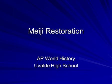 AP World History Uvalde High School