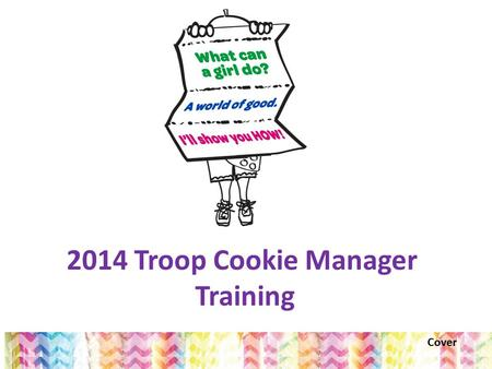 2014 Troop Cookie Manager Training