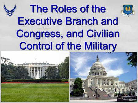 1 The Roles of the Executive Branch and Congress, and Civilian Control of the Military.