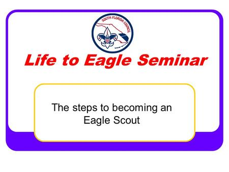 The steps to becoming an Eagle Scout