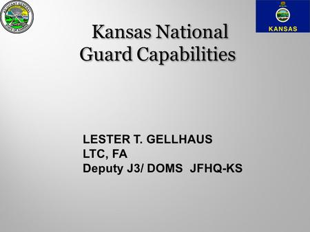 Kansas National Guard Capabilities