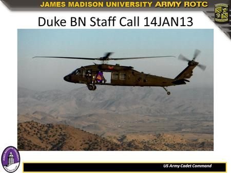 Duke BN Staff Call 14JAN13.