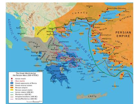 Second Persian Invasion 387-8 BC Led by Persian King Artaxeres Defeated central and southern Greeks states Known as the 'Kings Peace' Macedonia emerged.