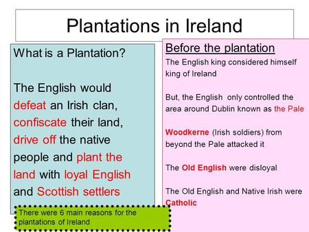 Plantations in Ireland