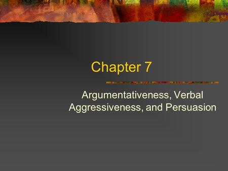 argumentativeness and verbal aggreession Argumentative and aggressive communication is the first book entirely devoted to the argumentativeness, verbal aggressiveness and gender differences in the.