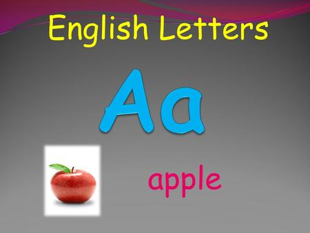English Letters apple English Letters book English Letters camera.