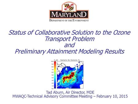 Status of Collaborative Solution to the Ozone Transport Problem and