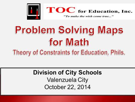 Division of City Schools Valenzuela City October 22, 2014.